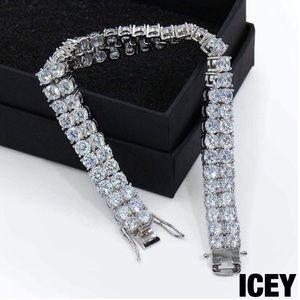 18K Iced Out 2 Row Diamond Tennis Bracelet
